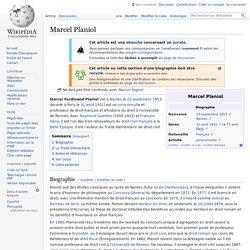 Marcel Planiol
