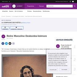 Relire Marceline Desbordes-Valmore