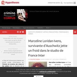 Marceline Loridan-Ivens, survivante d'Auschwitz jette un froid dans le studio de France Inter