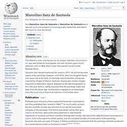 Marcelino Sanz de Sautuola - Wikipedia