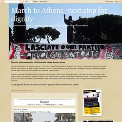 International NONviolent March Nice-Rome-Athens (Italy)