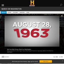 March on Washington - start here and watch video