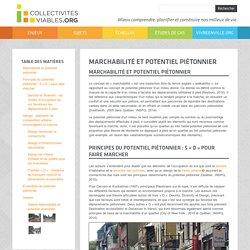 Marchabilité et potentiel piétonnier - Collectivités viables