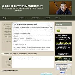 Site marchand + communauté