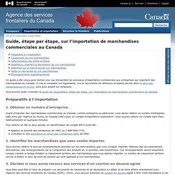 Guide, étape par étape, sur l'importation de marchandises commerciales au Canada