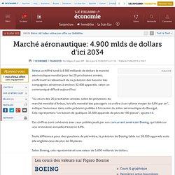 Marché aéronautique: 4.900 mlds de dollars d'ici 2034