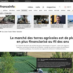 Le marché des terres agricoles est de plus en plus financiarisé au fil des ans