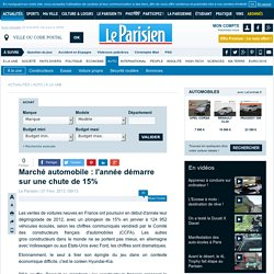 Marché automobile : l'année démarre sur une chute de 15% - Automobile - 01/02/2013