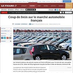 Coup de frein sur le marché automobile français