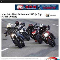 Marché : Bilan de l'année 2015 (+ Top 50 des ventes) - Moto Revue