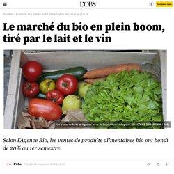 Le marché du bio en plein boom, tiré par le lait et le vin
