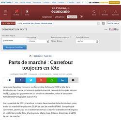 Parts de marché : Carrefour toujours en tête