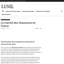 Le marché des chaussures en France - LUNIL - Plateforme B2B
