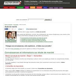 étude de marché » Infos et conseils Encyclopédie étude de marché & Forum étude de marché