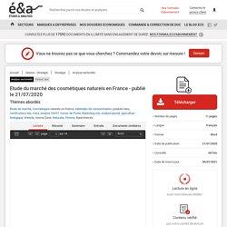 Etude du marché des cosmétiques naturels en France - publié le 21/07/2020