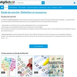 ETUDE DE MARCHE : définition marketing étude de marché