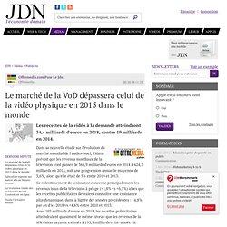Le marché de la VoD dépassera celui de la vidéo physique en 2015 dans le monde