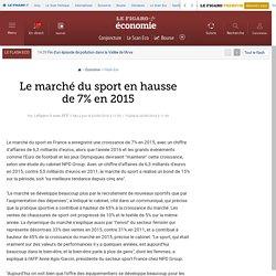 Le marché français du sport en hausse de 7% en 2015