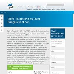 2016 : le marché du jouet français tient bon