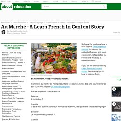 Au Marché - A Learn French In Context Story