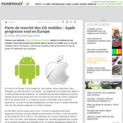 Parts de marché des OS mobiles: Apple progresse seul en Europe