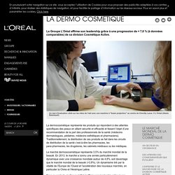Le marché mondial de la dermo cosmétique-L'Oréal Groupe