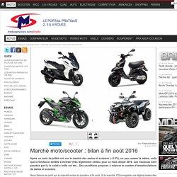 Marché moto/scooter : bilan à fin août 2016
