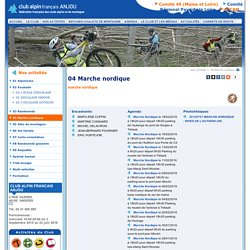 04 Marche nordique , Club Alpin Français Anjou