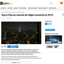 Top et Flop du marché de l'objet connecté en 2015 - objeko.com