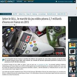 Selon le SELL, le marché du jeu vidéo pèsera 2,7 milliards d'euros en France en 2015
