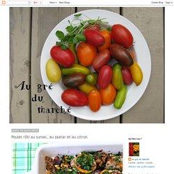 Au gré du marché: Poulet rôti au sumac, au zaatar et au citron
