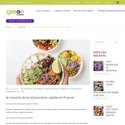 le marché de la restauration rapide en France – Green is better