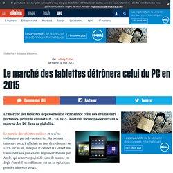 Le marché des tablettes détrônera celui du PC en 2015