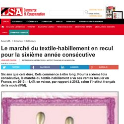 Le marché du textile-habillement en recul... - Textile, habillement