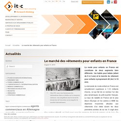 Le marché des vêtements pour enfants en France - ITC- ITC