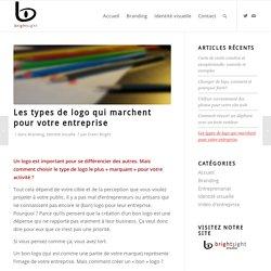 Les types de logo qui marchent pour votre entreprise – Le blog de Bright Sight