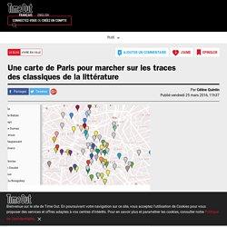 Une carte de Paris pour marcher sur les traces des classiques de la littérature