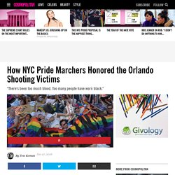 How NYC Pride Marchers Honored the Orlando Shooting Victims