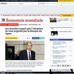 Les marchés surpris par l'adoption de taux négatifs par la Banque du Japon