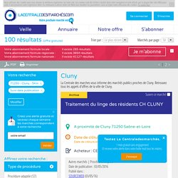 Cluny - 71250 - Saône-et-Loire : marchés publics et appels d'offres