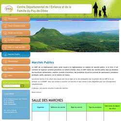 Marchés Publics - Centre départemental de l'enfance et de la famille du puy-de-dôme