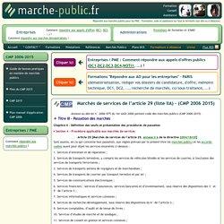 Article 29 liste IIB CMP 2006/2015