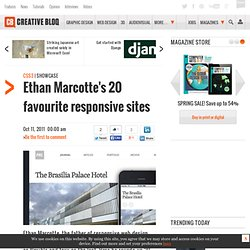 Ethan Marcotte's 20 favourite responsive sites
