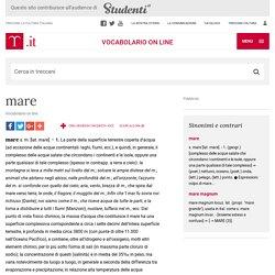 mare in Vocabolario - Treccani