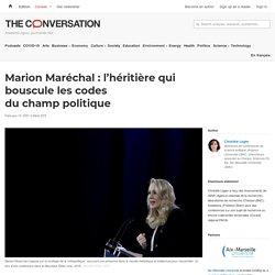 Marion Maréchal: l'héritière qui bouscule lescodes duchamp politique