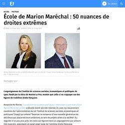 École de Marion Maréchal : 50 nuances de droites extrêmes