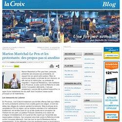 Marion Maréchal-Le Pen et les protestants: des propos pas si anodins