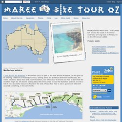 Maree Bike Tour Oz: Nullarbor advice