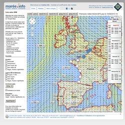 Météo et marées - carte météo GRIB - horaire marée meteo marine - Atlantique Manche Mer du Nord