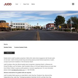 Marfa - Judd Foundation